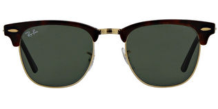 Ray Ban RB3016 Clubmaster - T49 Mock Tortoise Arista Crystal Green Lens