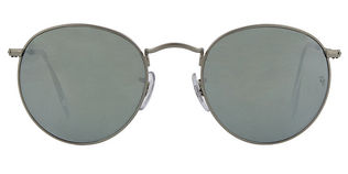 Ray Ban RB3447 Round Metal - T50 Matt Silver Grey mirror lens